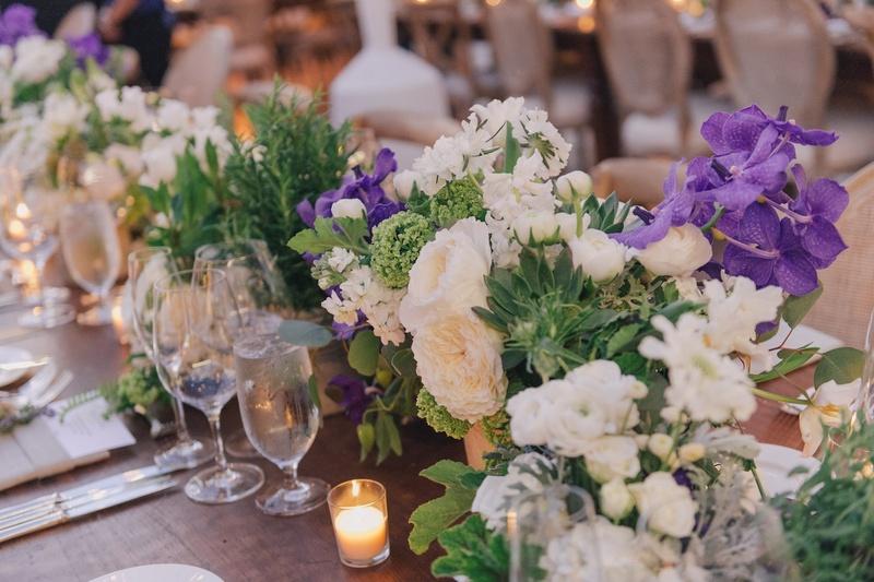 Floral arrangements at Nick Carter and Lauren Kitt's wedding
