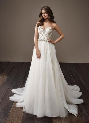Badgley Mischka Bride 2018 collection wedding dress Betty strapless sheath bridal gown jewel bodice