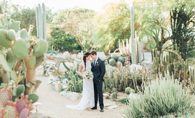 desert botanic garden wedding inspiration, boho-chic desert wedding