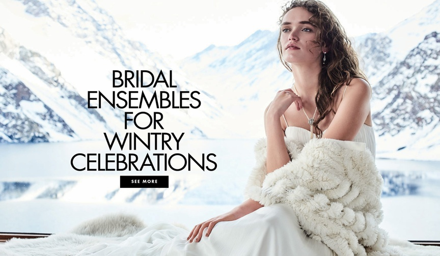 BHLDN Snowed In wedding dress and accessory collection jackets