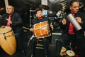latin band with drums for wedding reception of dominican bride