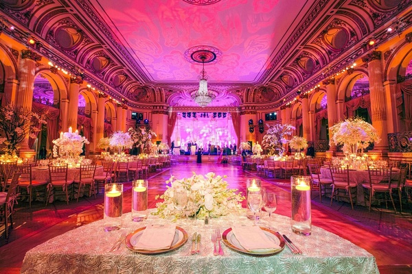 Sweetheart table at the Grand Ballroom of The Plaza