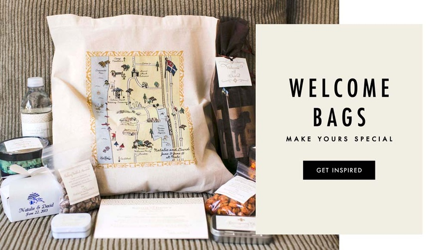 Wedding welcome bags for guests and what to fill them with