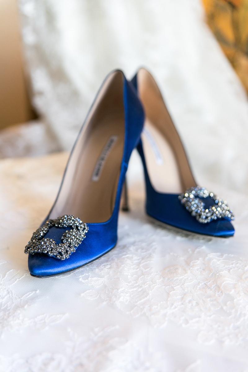 09dc56383fa1 Shoes   Bags Photos - Something Blue Pumps - Inside Weddings