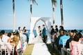 seaside wedding, ceremony by the ocean, Denver Broncos NFL kicker Brandon McManus and wife