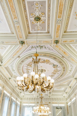 wedding venue in lake como italy ballroom ceiling at Grand Hotel Villa Serbelloni bellagio italy