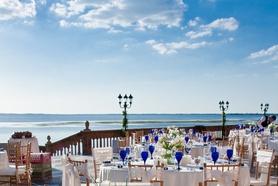 Wedding set up at Ca d'zan Mansion at The Ringling