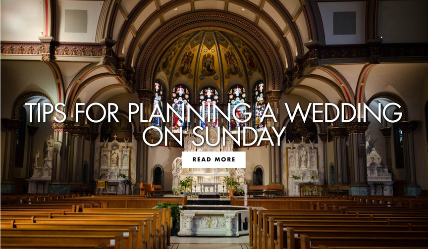 tips for planning a wedding on a sunday wedding planning advice and tips for wedding dates