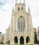 bryn athyn cathedral wedding ceremony, gothic cathedral