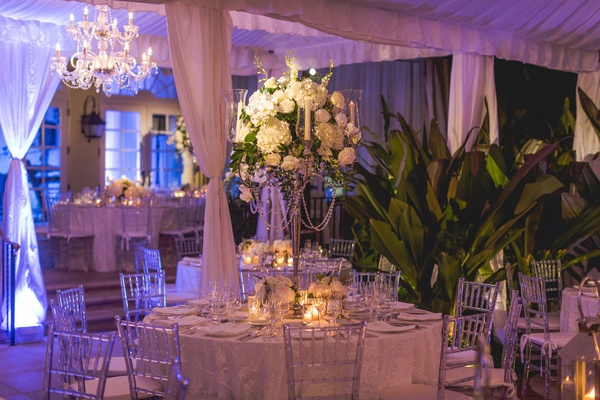 The Real Housewives of New York City's Luann de Lesseps wedding reception centerpiece tent