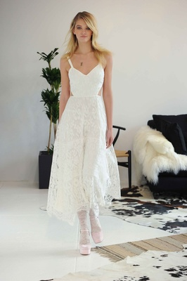 Lace Cut Out Casual Wedding Dress By Houghton Fall 2016