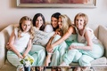 mint polka dot pajama pants for three generations happily ever after pillows