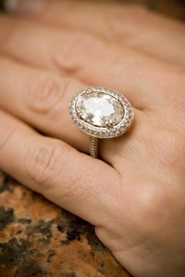 Halo-style sparkling diamond ring