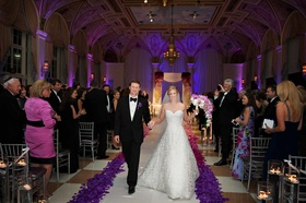 Morgan Pressel walks up aisle with husband at The Breakers