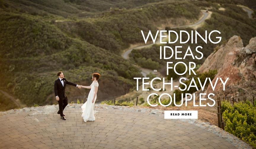 Tech savvy wedding ideas for couples
