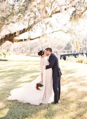 Bride and groom kiss wedding portrait montage palmetto bluff south carolina lowcountry bluffton long
