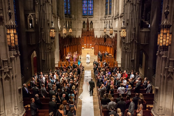 Heinz Memorial Chapel traditional wedding ceremony