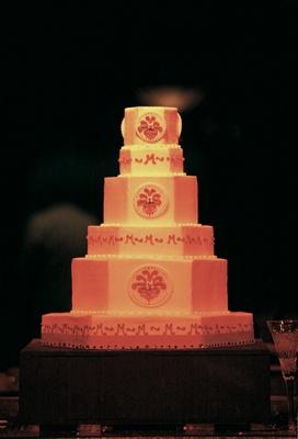 Wedding cake with monogram by Sandy