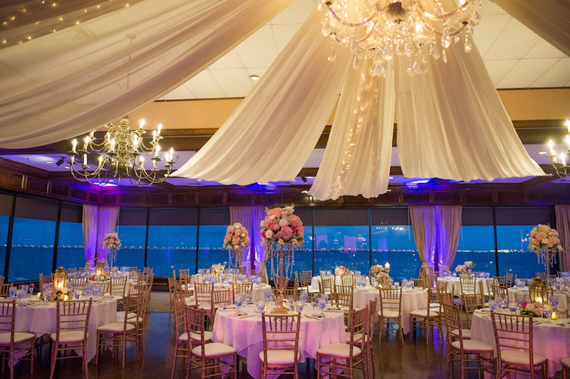 View Wedding Decor: Indoor Reception With View Of Bay