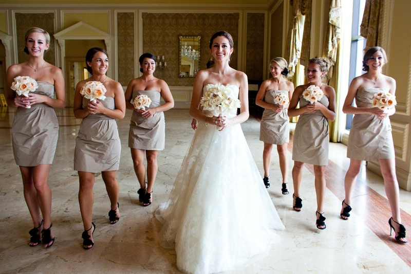 Brides & Bridesmaids Photos - Taupe Bridesmaid Dresses - Inside ...