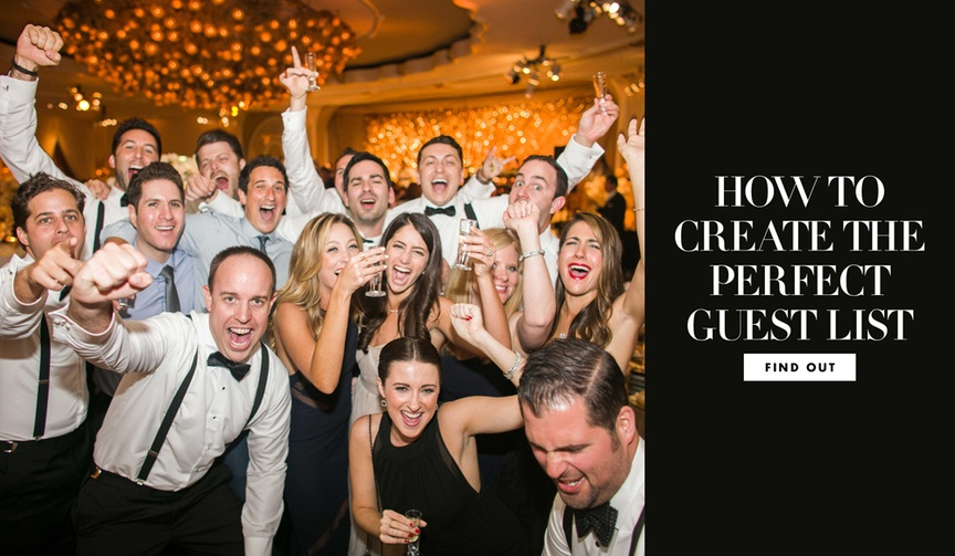 how to create the perfect guest list for your wedding