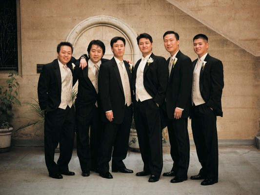 Cream And Blush Black Tie Wedding: Blush Ballroom Wedding With Crystal Details In Los Angeles