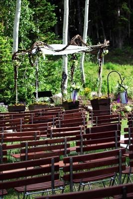 Deer Valley Utah outdoor wedding ceremony