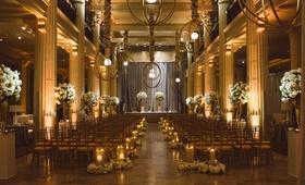 Indoor wedding of Owen Daniels and Angela Mecca