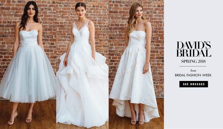 David's Bridal spring 2018 presentation wedding dresses bridal gowns