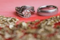 round diamond engagement ring with spiral tension setting