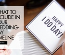 What to include in your wedding day timeline wedding ideas scheduling planning ilana ashley events