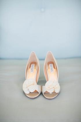 badgley mischka thora wedding heels with floral accent