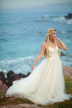 sweetheart backless tulle a-line ballgown wedding gown whisper ines di santo bridal embellishments