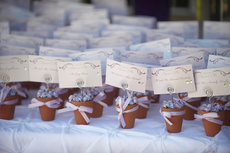 Invitations & More Photos - Flower Pot Seating Cards - Inside Weddings
