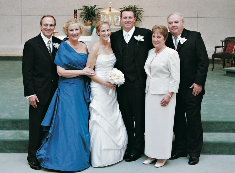 Mother-of-the-Bride dresses and newlyweds