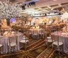 wedding reception, cherry blossom centerpieces, classic decor