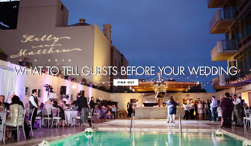 information your guests need to know for your wedding