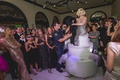 Thomas D'Agostino wedding and birthday party surprise cake with Marilyn Monroe performer