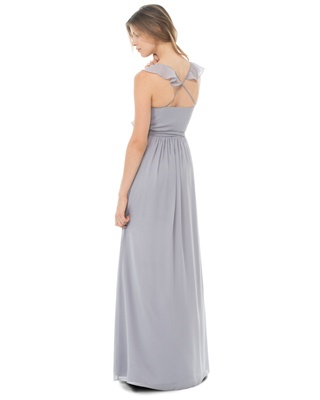 This romantic wrap dress is not only beautiful, it's effortless! The delicate ruffles on the necklin