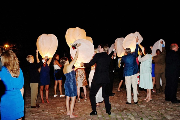 Paper wish sky lantern for wedding send off