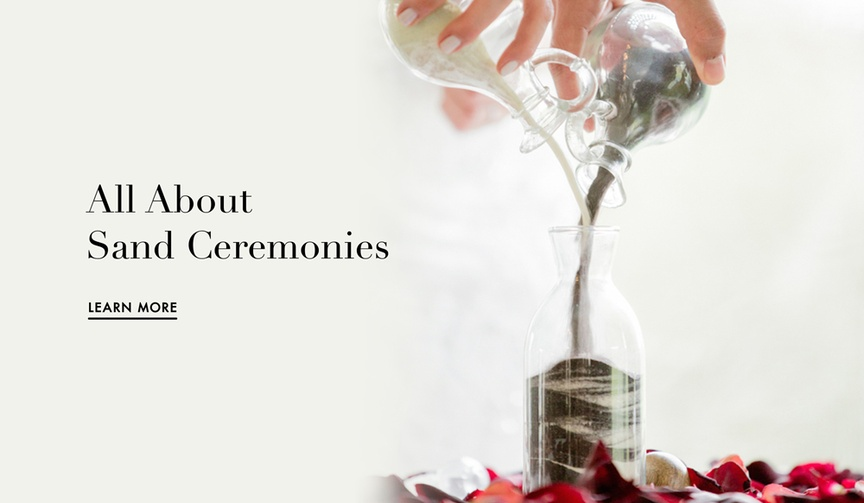Sand ceremony information for your wedding