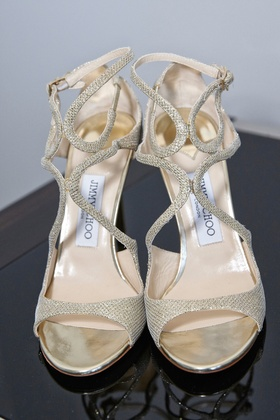 jimmy choo gold wedding shoes peep toe sandals