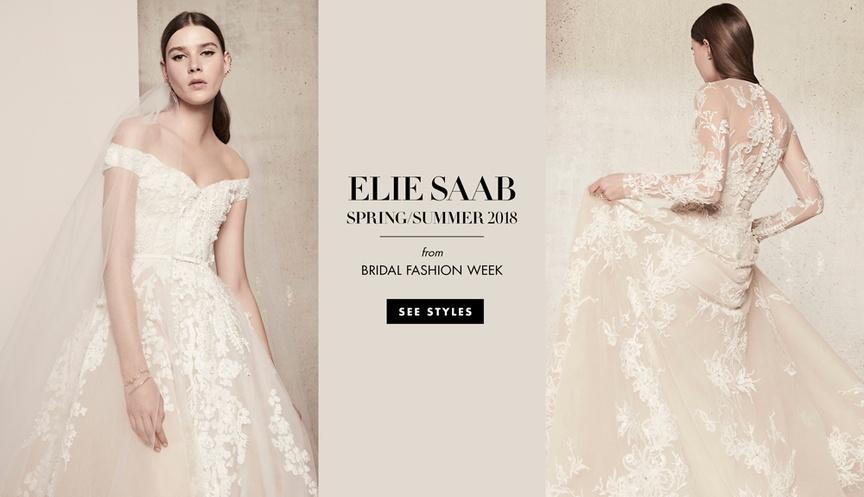elie saab spring summer 2018 collection wedding dresses bridal designer floral springtime tulle