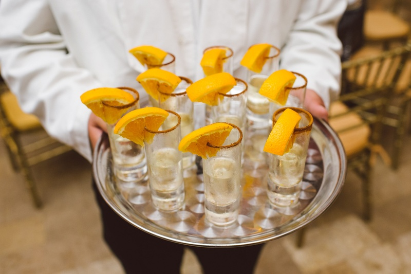 Owen Daniels and Angela Mecca's wedding drinks