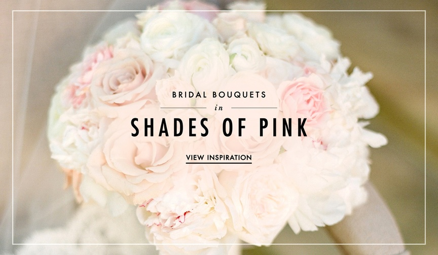 Wedding bridal bouquet ideas in shades of pink and white