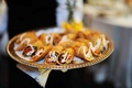 Tray-passed cajun shrimp eggroll appetizers