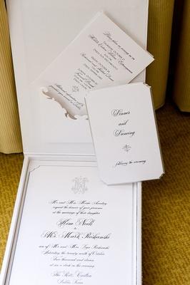 Lehr and Black black and white wedding invite box