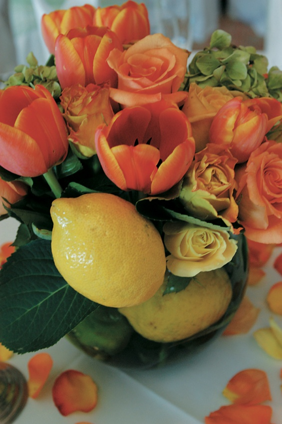 reception d cor photos tulip and lemon centerpiece inside weddings rh insideweddings com