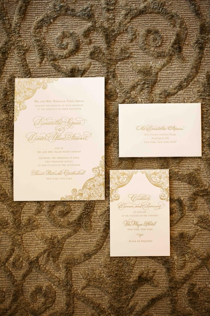Donatella Arpaia and Alan Stewartu0027s wedding invitation