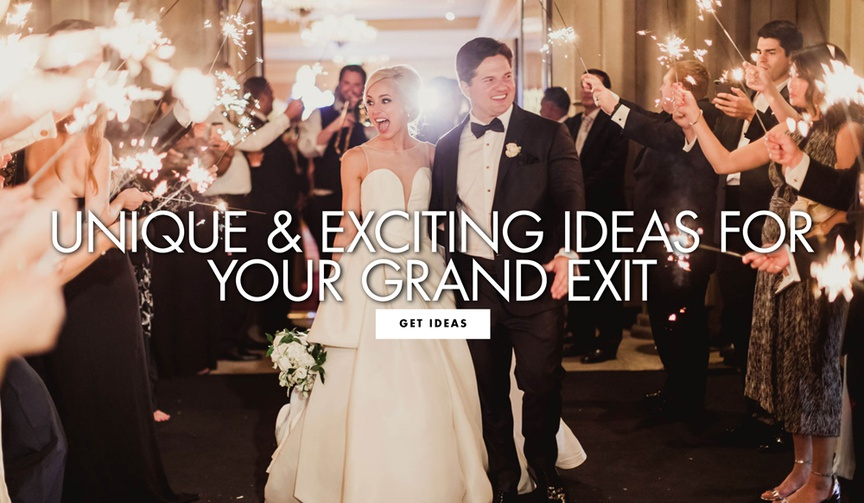 unique and exciting ideas for your grand exit after the wedding reception